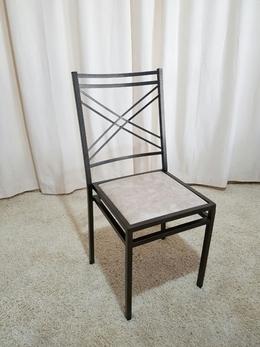Cadeira de Ferro Empilhável Duplo X Dourada