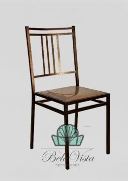 Cadeira de Ferro Empilhável Barcelona Dourado envelhecido