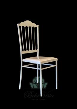 Cadeira de Ferro Empilhável Slim Dior Branca