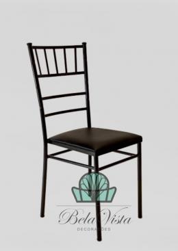 Cadeira de Ferro Empilhável Slim Tiffany Preta