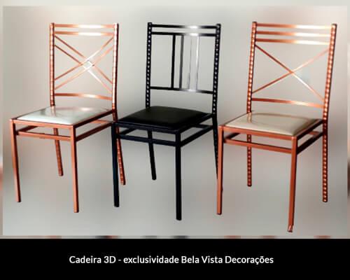 Cadeira 3D - exclusividade Bela Vista Decorações